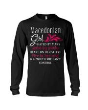 Macedonian Girl Long Sleeve Tee thumbnail
