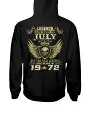 LEGENDS 72 7 Hooded Sweatshirt back