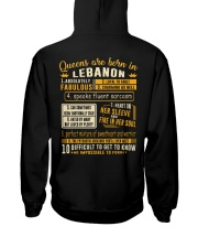 Queens Lebanon Hooded Sweatshirt back