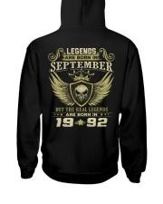 LEGENDS 92 9 Hooded Sweatshirt back