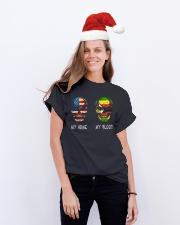 My Blood - Zimbabwe Classic T-Shirt lifestyle-holiday-crewneck-front-1