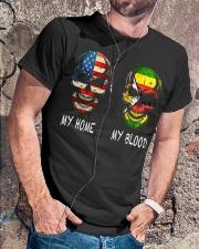 My Blood - Zimbabwe Classic T-Shirt lifestyle-mens-crewneck-front-4