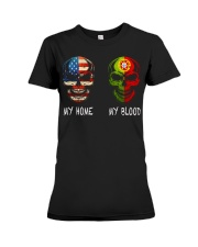 MY HOME AND MY BLOOD  Premium Fit Ladies Tee thumbnail