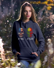 MY HOME AND MY BLOOD  Hooded Sweatshirt lifestyle-holiday-hoodie-front-5