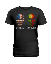 MY HOME AND MY BLOOD  Ladies T-Shirt thumbnail