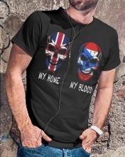 My Home United Kingdom - Puerto Rico Classic T-Shirt lifestyle-mens-crewneck-front-4