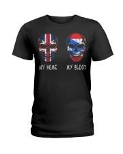 My Home United Kingdom - Puerto Rico Ladies T-Shirt thumbnail