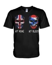 My Home United Kingdom - Puerto Rico V-Neck T-Shirt thumbnail