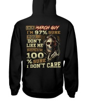 DONT CARE 3 Hooded Sweatshirt back