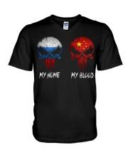 Home Russia - Blood China V-Neck T-Shirt thumbnail
