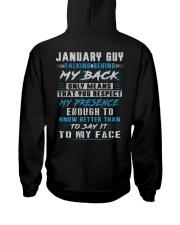 MY BACK 1 Hooded Sweatshirt back