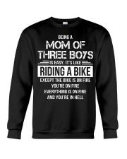 Being A Mom Of Three Boys Is Easy Funny T-Shirt Crewneck Sweatshirt thumbnail