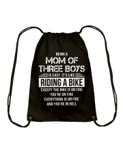 Being A Mom Of Three Boys Is Easy Funny T-Shirt Drawstring Bag thumbnail