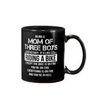 Being A Mom Of Three Boys Is Easy Funny T-Shirt Mug thumbnail