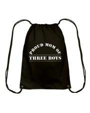 Happiness Of A Mom Of Three Boys T-Shirt Hoodie Drawstring Bag thumbnail