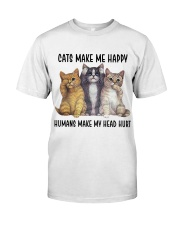 Cats make me happy Classic T-Shirt thumbnail