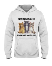 Cats make me happy Hooded Sweatshirt thumbnail