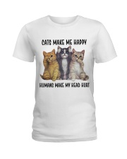 Cats make me happy Ladies T-Shirt thumbnail