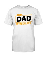 best dad in the galaxy shirt fathers day gift Premium Fit Mens Tee front