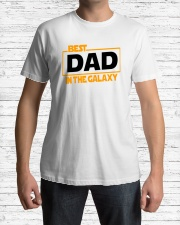 best dad in the galaxy shirt fathers day gift Premium Fit Mens Tee lifestyle-mens-crewneck-front-1