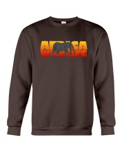 Africa Wildlife - Elephant - Animal - Sunset Crewneck Sweatshirt thumbnail