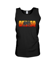 Africa Wildlife - Elephant - Animal - Sunset Unisex Tank thumbnail
