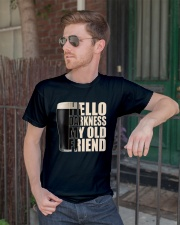 HELLO DARKNESS MY OLD FRIEND Classic T-Shirt lifestyle-mens-crewneck-front-2