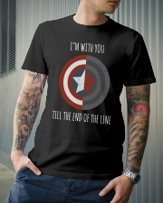I'M WITH YOU TILL THE END OF THE LINE Classic T-Shirt lifestyle-mens-crewneck-front-6