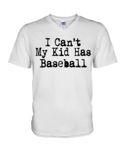 baseball V-Neck T-Shirt tile