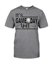 baseball it's gameday yall Classic T-Shirt front