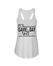baseball it's gameday yall Ladies Flowy Tank tile