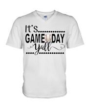 baseball it's gameday yall V-Neck T-Shirt thumbnail