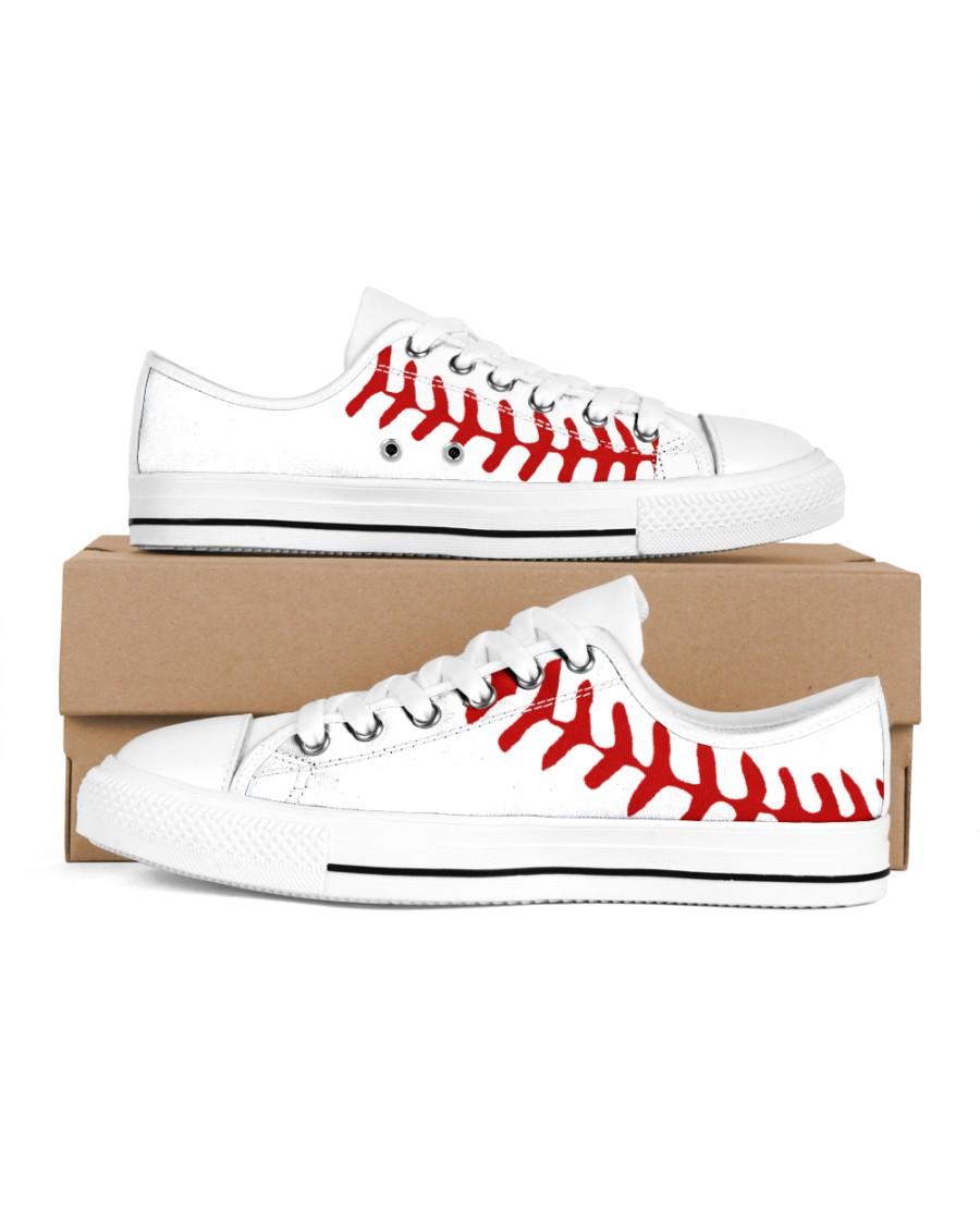 baseball Women's Low Top White Shoes