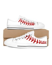 baseball Women's Low Top White Shoes inside-left-outside-left