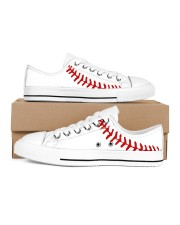 baseball Women's Low Top White Shoes inside-right-outside-right