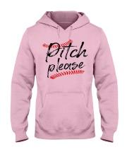 baseball pitch please Hooded Sweatshirt front