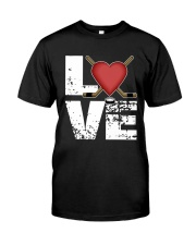 green love hockey shirts Classic T-Shirt tile