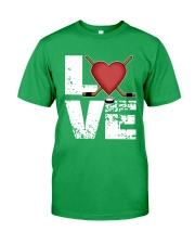 green love hockey shirts Classic T-Shirt front
