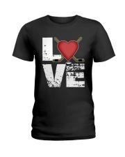 green love hockey shirts Ladies T-Shirt thumbnail