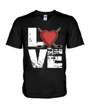 green love hockey shirts V-Neck T-Shirt thumbnail