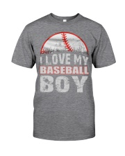i love my baseball boy Classic T-Shirt front