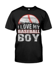 i love my baseball boy Classic T-Shirt tile