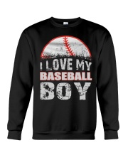 i love my baseball boy Crewneck Sweatshirt thumbnail