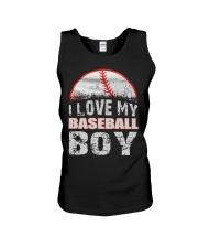 i love my baseball boy Unisex Tank thumbnail