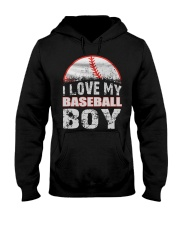 i love my baseball boy Hooded Sweatshirt tile