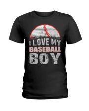 i love my baseball boy Ladies T-Shirt thumbnail