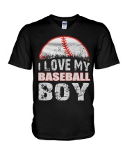 i love my baseball boy V-Neck T-Shirt thumbnail