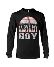 i love my baseball boy Long Sleeve Tee tile
