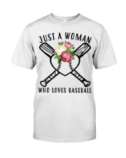 just a woman who loves baseball Classic T-Shirt tile
