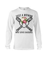 just a woman who loves baseball Long Sleeve Tee thumbnail